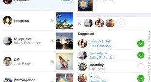 Instagram превратили в фотомессенджер