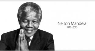 Страница памяти Нельсона Манделы на сайте Apple
