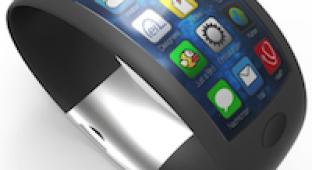 Концепт iWatch с изогнутым экраном и биодатчиками