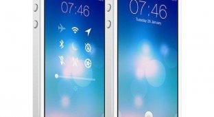 Дизайнер предложил новую концепцию экрана блокировки для iOS 7 [фото]