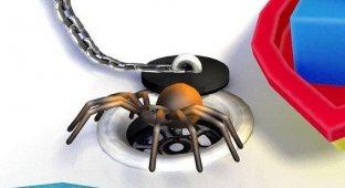 Британцы разработали виртуального паука для iPhone который помогает победить арахнофобию