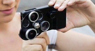 Новые патенты на сменные объективы в iPhone