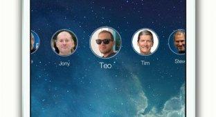 Дизайнеры показали концепт системы пользовательских профилей для iPad в стиле iOS 7