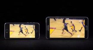 Samsung высмеяла 4-дюймовый экран iPhone и многозадачность iPad Air в своей новой рекламе [видео]
