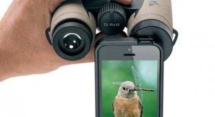 Адаптер от Swarovski Optik сделает из бинокля или подзорной трубы объектив для iPhone 5/5s [фото]