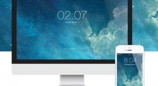 Дизайнер создал заставку для Mac в стиле экрана блокировки iOS 7