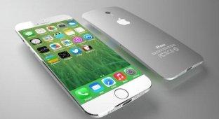 Дизайнер разработал концепт 4 7- и 5 7-дюймовых iPhone 6 с изогнутым корпусом [галерея]