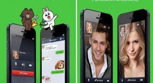 Мессенджер LINE получил «плоский» дизайн магазин тем и улучшенное качество звонков