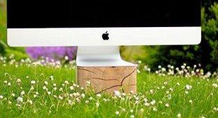 Woodster. Деревянная подставка и USB-хаб для iMac