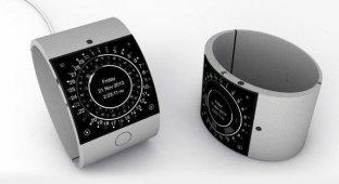HedgeHog показала концепт iWatch с 2-дюймовым дисплеем 640×640 точек и сканером Touch ID [видео]