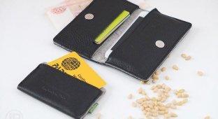 Обзор чехла Voyloc DOUBLUS. Бумажник для денег пластиковых карт и iPhone