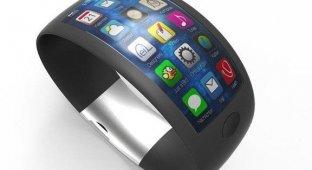 Свежий концепт iWatch демонстрирует «умные» часы на iOS 7 с изогнутым экраном и встроенными сенсорами [фото]