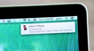 Приложение для Mac сообщит о разряженном аккумуляторе iPhone и iPad [видео]